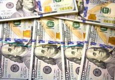Hundert Dollarhintergrund Lizenzfreies Stockbild
