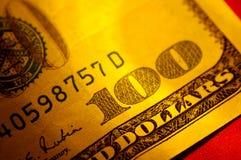 Hundert Dollarschein Lizenzfreie Stockfotos