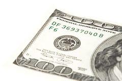 Hundert Dollarschein Lizenzfreies Stockbild