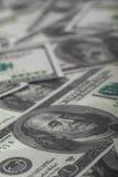 Hundert Dollarschein- Lizenzfreie Stockfotos