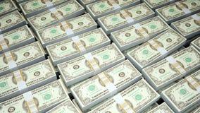 Hundert Dollarscheine Stockfoto