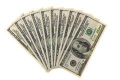 Hundert Dollarscheine Stockfotos
