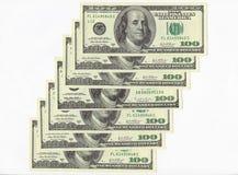 Hundert Dollarscheine. Lizenzfreie Stockfotos