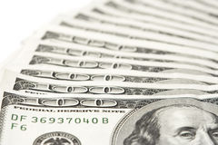 Hundert Dollarscheine Lizenzfreie Stockfotografie