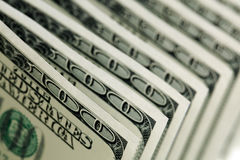 Hundert Dollarscheine stockfotografie