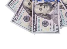 Hundert Dollarscheine Lizenzfreies Stockfoto