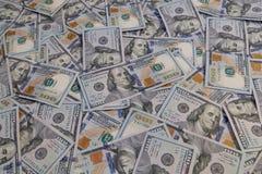 Hundert Dollarscheine Lizenzfreie Stockfotos