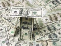 Hundert Dollarscheinhaus Lizenzfreie Stockbilder