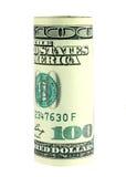 Hundert Dollarscheinrolle Lizenzfreies Stockfoto