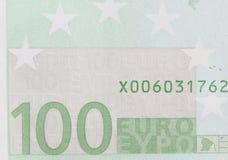 Hundert Euro als Hintergrund Makro Lizenzfreie Stockbilder