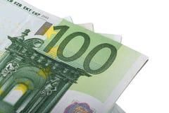 Hundert Euro Banknots Stockbilder