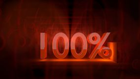 Hundert Prozent Lizenzfreies Stockfoto