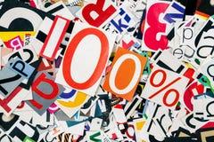 Hundert Prozent Lizenzfreie Stockfotos
