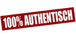 Hundert Prozent authentisch stock abbildung