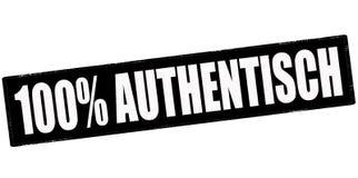 Hundert Prozent authentisch lizenzfreie abbildung