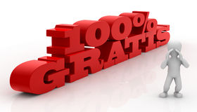 Hundert Prozent geben frei Lizenzfreies Stockfoto