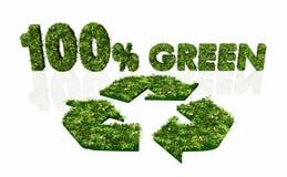Hundert Prozent Grün und recyclebares vektor abbildung