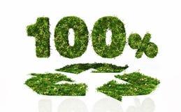 Hundert Prozent recyclebar stock abbildung