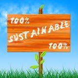 Hundert Prozent-Show-ökologisches nachhaltiges und Ökologie Stockfoto