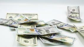 Hundert US-Banknoten bargeld hundert Dollar, 100 Dollar stock video