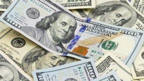 Hundert US-Banknoten bargeld hundert Dollar, 100 Dollar stock video footage