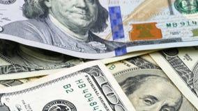 Hundert US-Banknoten bargeld hundert Dollar, 100 Dollar stock footage