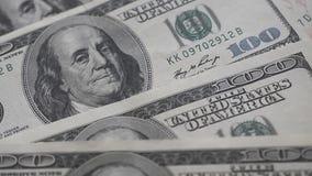 Hundert US-Dollar Banknote stock video footage