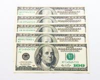 Free Hundert US Dollar Banknotes On White Background. Buckes Royalty Free Stock Images - 87607699