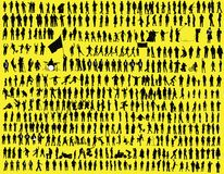 Hunderte des Schattenbildes Stockfotografie
