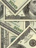 Hunderte Dollarhintergrund Lizenzfreies Stockfoto
