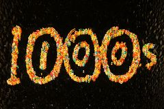 Hunderte und Tausenden Lizenzfreie Stockfotos