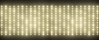 Hunderte von den kleinen Glühlampen Lizenzfreies Stockfoto