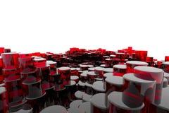 Rote Glasspalten Stockfoto
