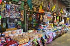Hundertjähriger Markt Khlong Suan nahe Bangkok, Thailand lizenzfreie stockfotos