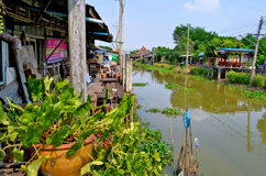 Hundertjähriger Markt Khlong Suan nahe Bangkok, Thailand Lizenzfreies Stockfoto
