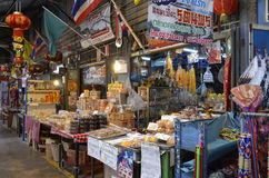 Hundertjähriger Markt Khlong Suan nahe Bangkok, Thailand Stockfotografie