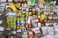 Hundertjähriger Markt Khlong Suan nahe Bangkok, Thailand Stockfotos