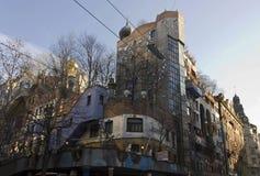 Hundertwasser五颜六色的议院 免版税库存图片