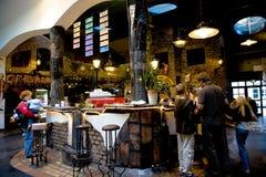 Hundertwasser房子在维也纳,奥地利 免版税库存图片