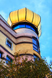 Hundertwasser房子看法在达姆施塔特,德国 免版税库存图片