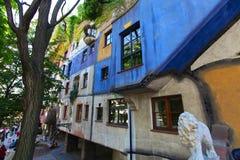 Hundertwasser的房子 免版税库存照片