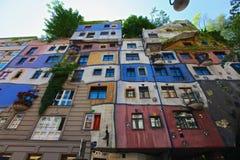 Hundertwasser的房子 免版税库存图片