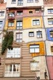 Hundertwasser议院 库存图片