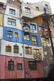 Hundertwasser议院 免版税库存照片