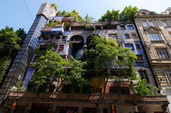Hundertwasser apartment House Royalty Free Stock Photos