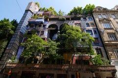 Hundertwasser apartment House Royalty Free Stock Photos