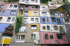Hundertwasser color house Royalty Free Stock Photography