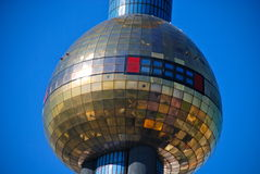 Hundertwasser district heating plant in Vienna Stock Photo