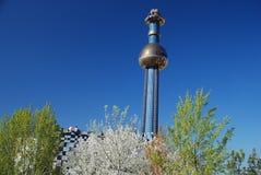Hundertwasser Fernheizunganlage in Wien Stockbild