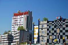 Hundertwasser Fernheizunganlage in Wien Stockfoto